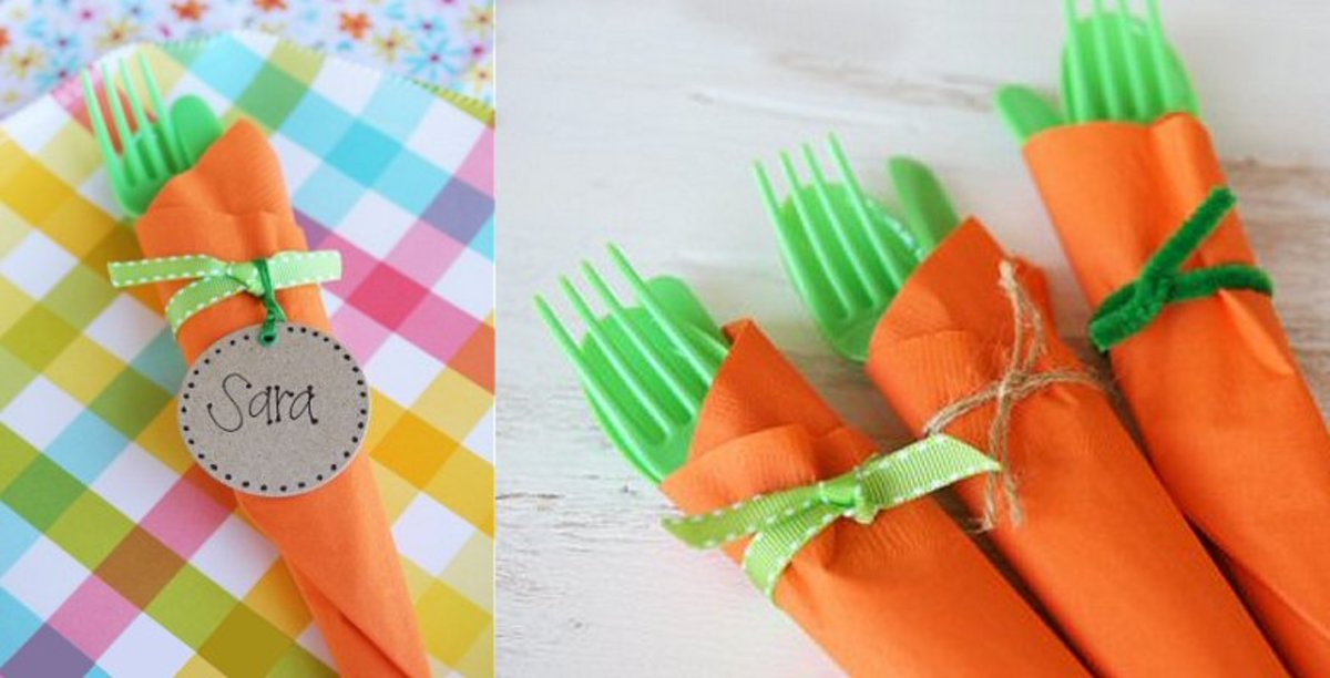 Easter Carrot Cutlery Bundles