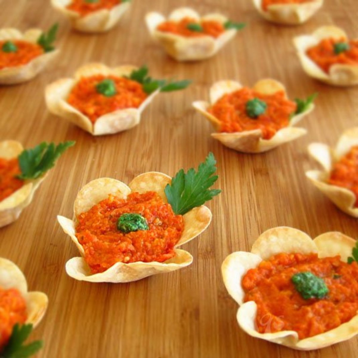Flower Cup Appetizers for Easter