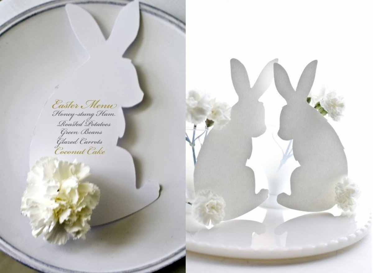 Bunny Menu Cards for Easter