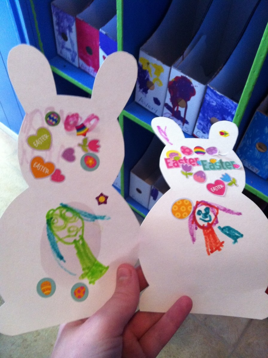 These bunny cards can be addressed and sent to loved ones or kept and displayed as decorations.