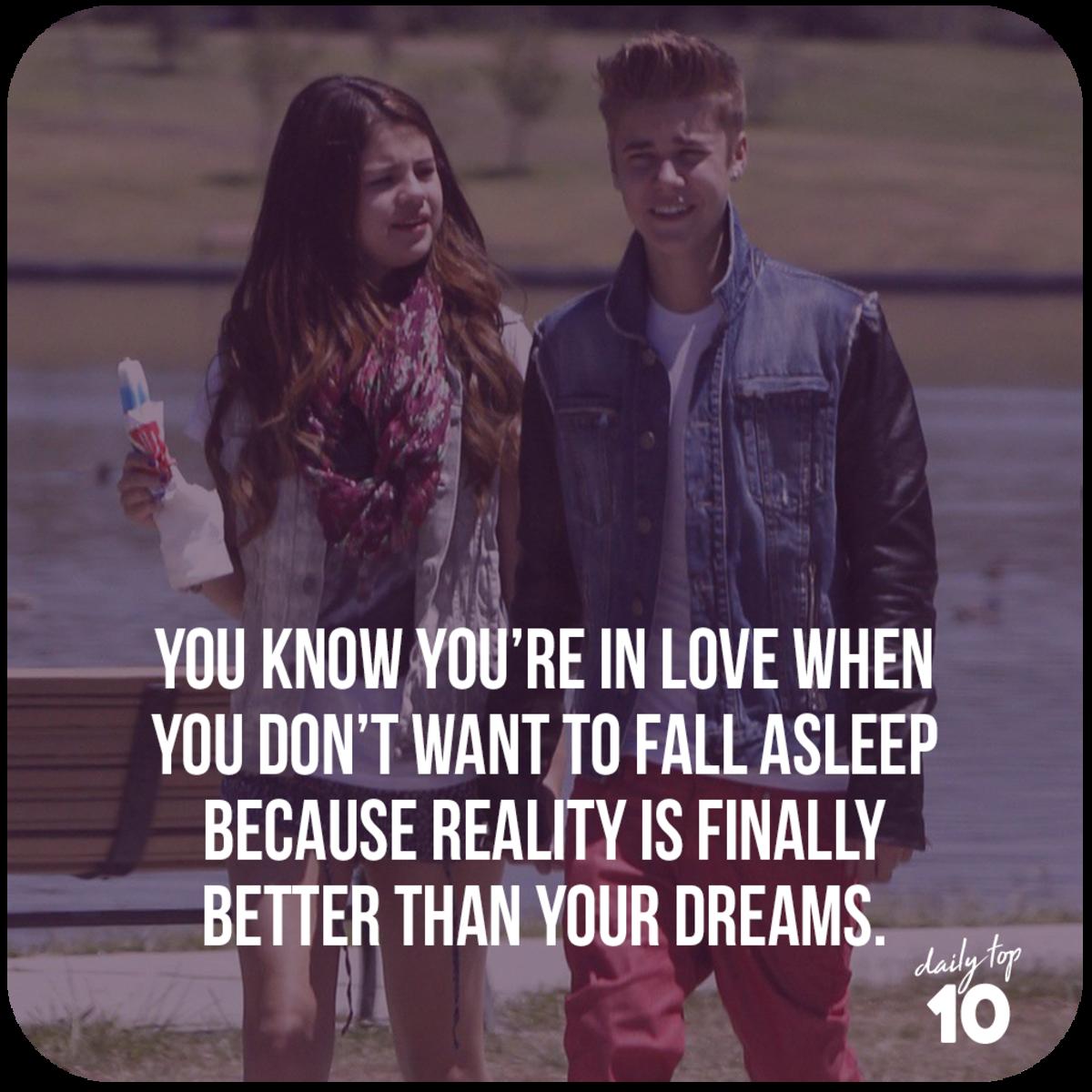 Justin Bieber and Selena Gomez strolling