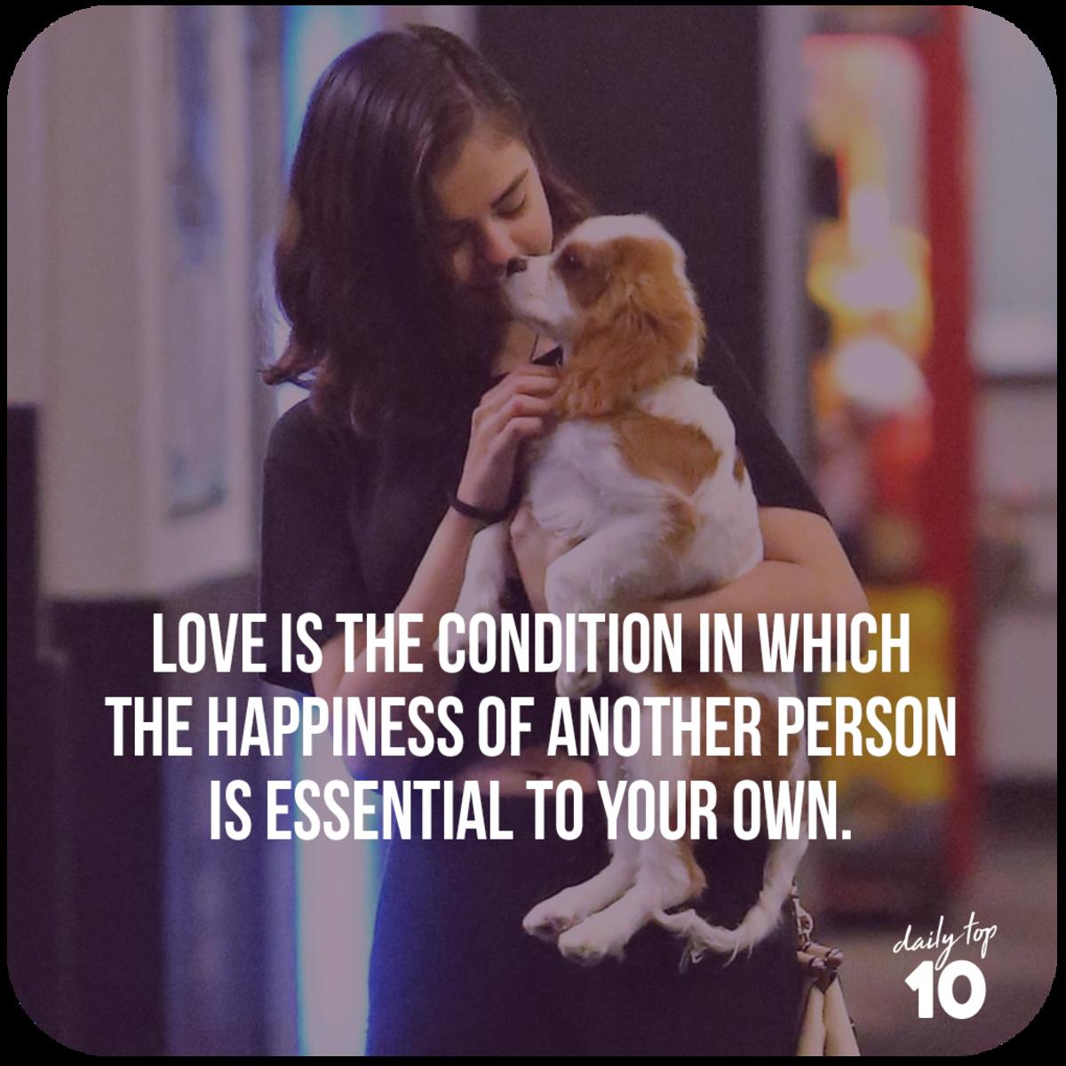 Selena Gomez holding a puppy
