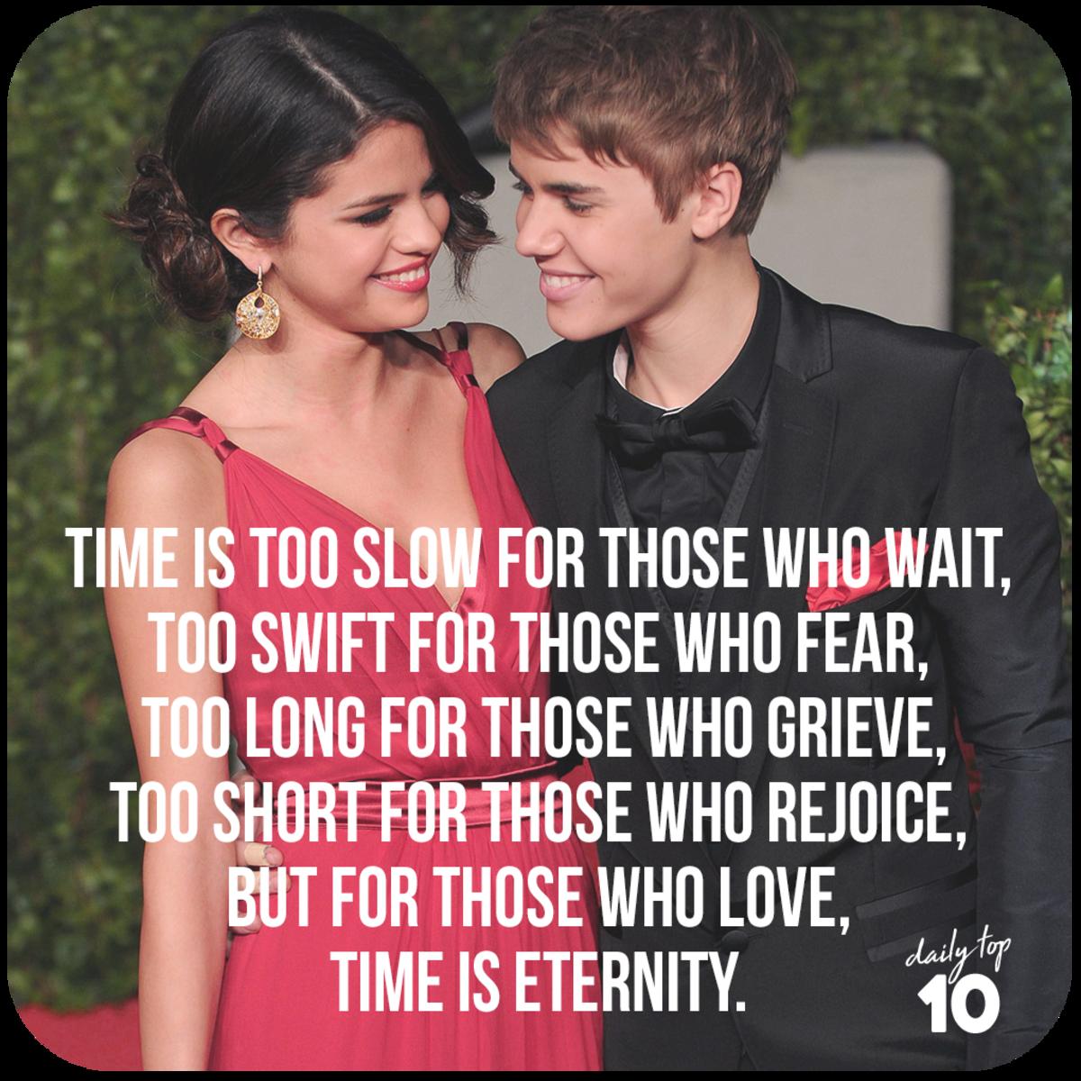 Justin Bieber and Selena Gomez oscars