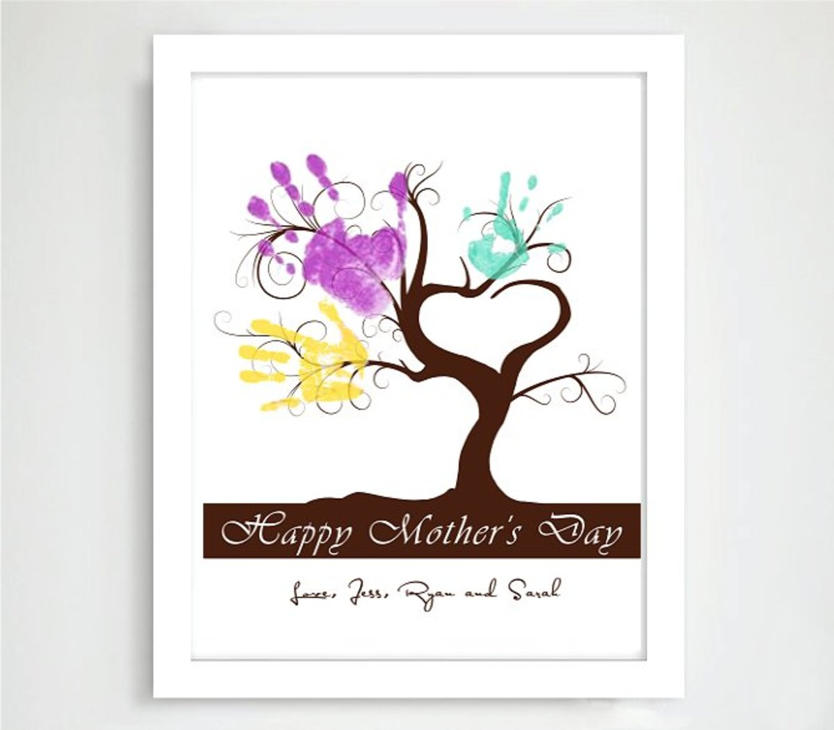 Handprint Tree Poster for Mother's Day