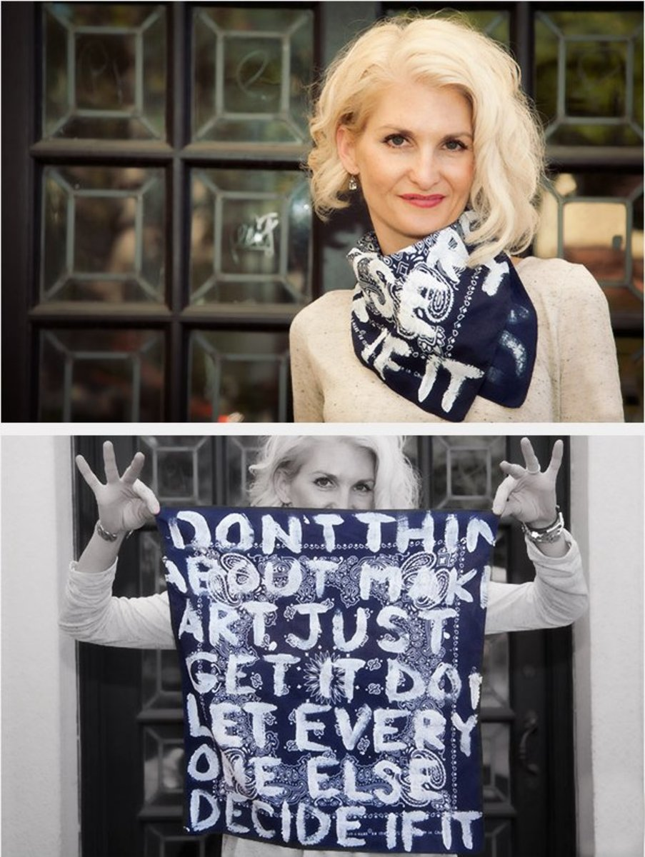 Make your mom a hand-painted scarf with her favorite quote for Mother's Day.