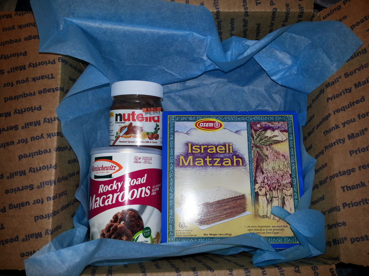 I start with the Passover products that I want them to have.