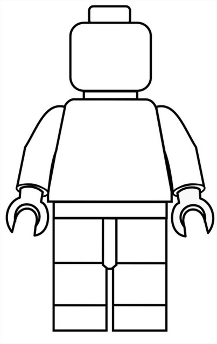 LEGO man template