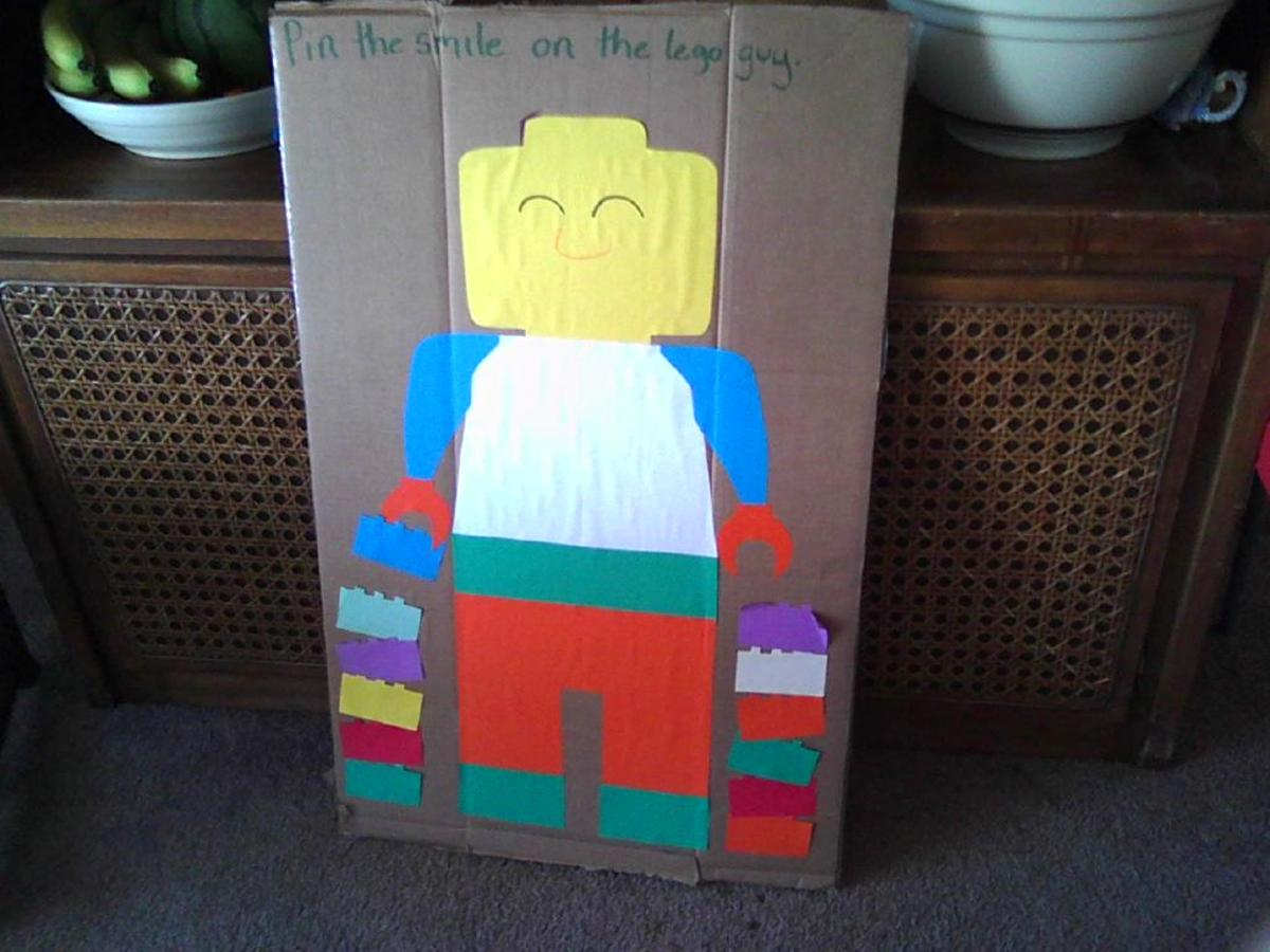 Pin the smile on the LEGO guy