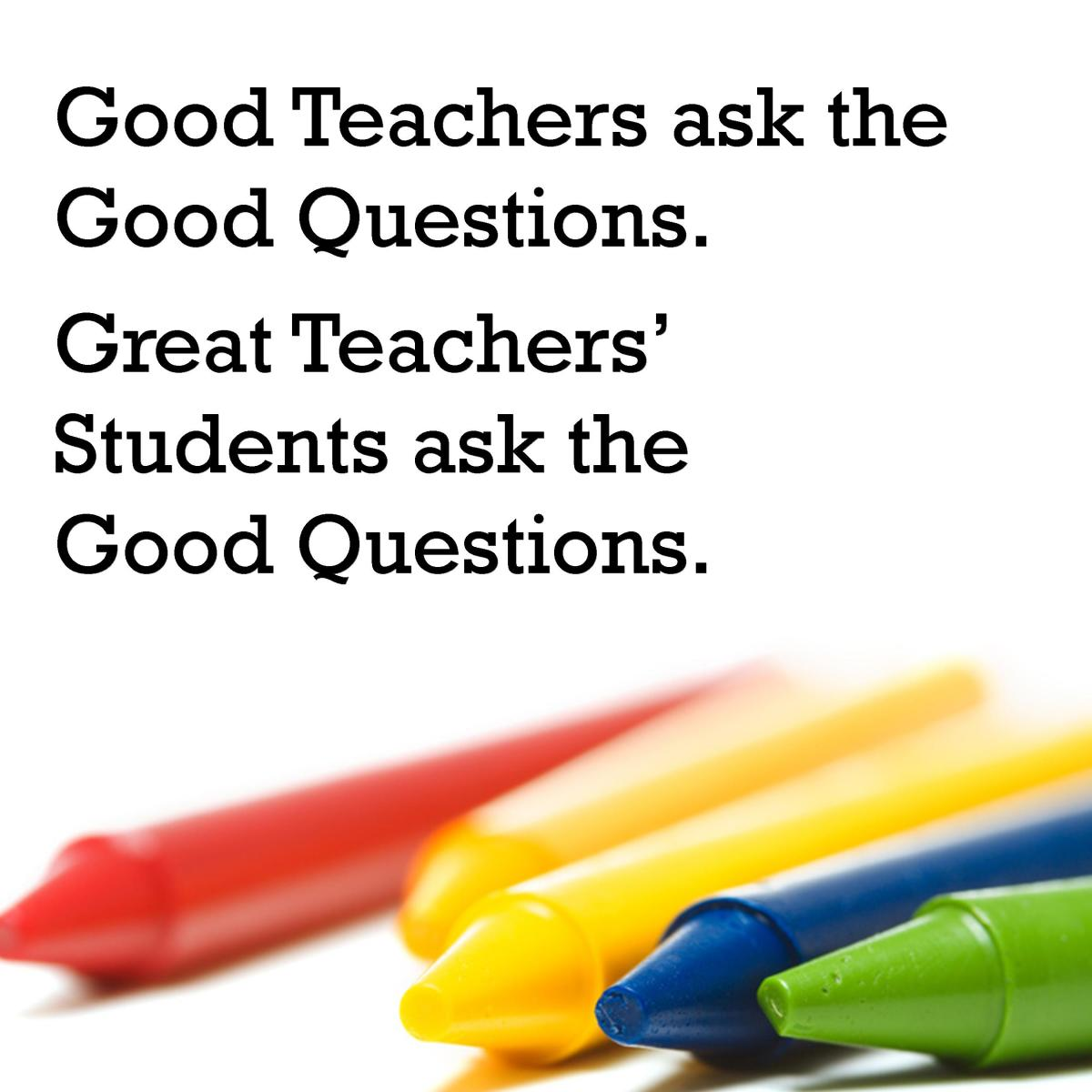 You can use a saying or quote about good teachers to tell your teacher why he or she is good.