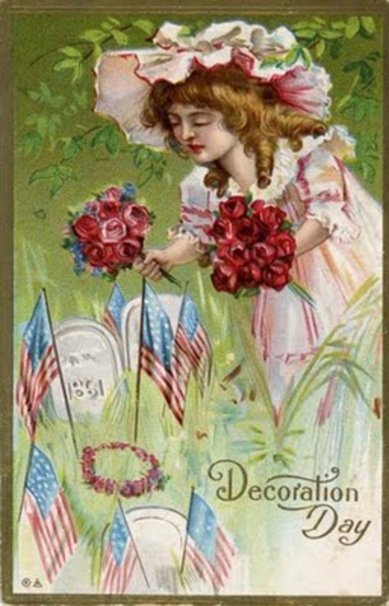 Antique Decoration Day Greeting Card