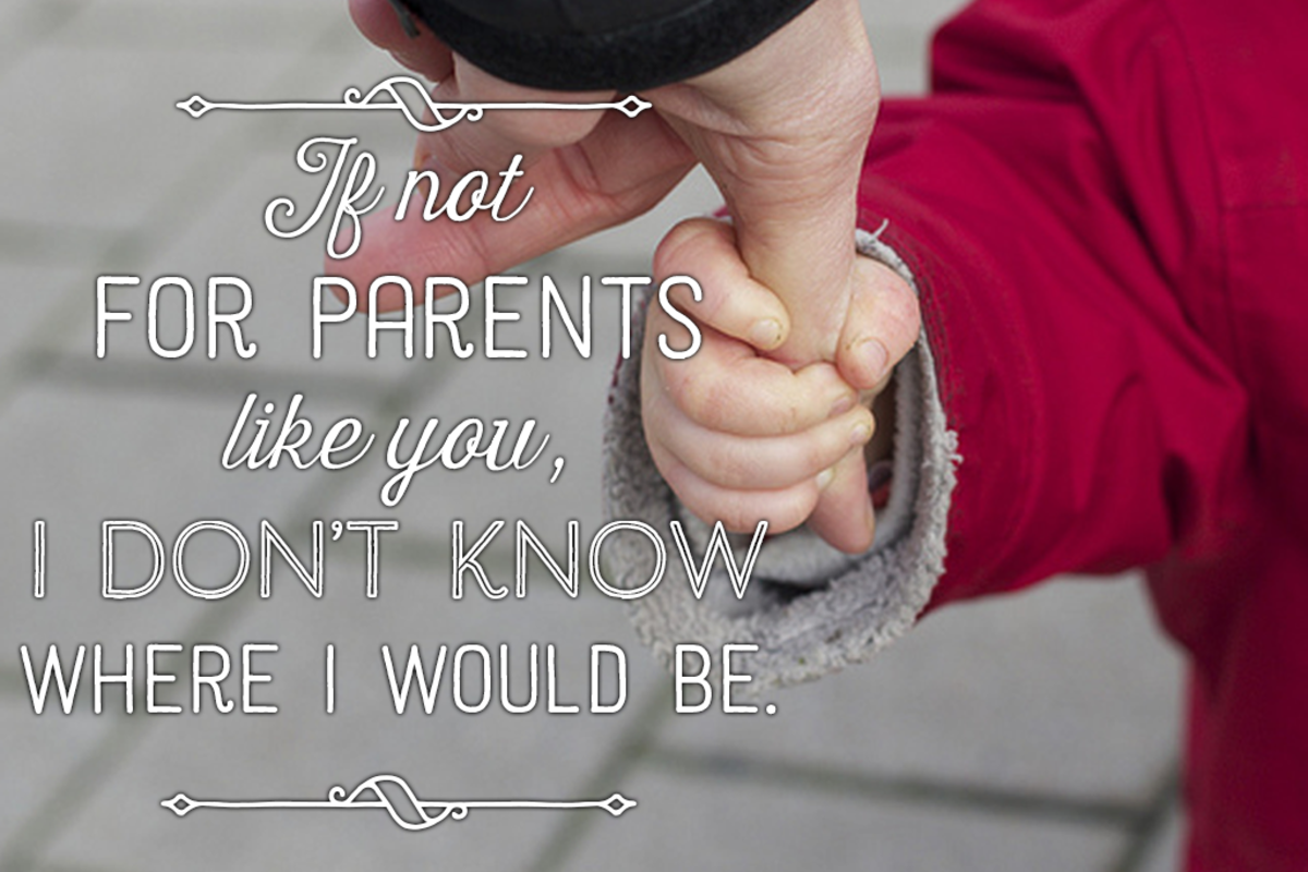 Parents' anniversary wish: If not for parents like you, I don't know where I would be.