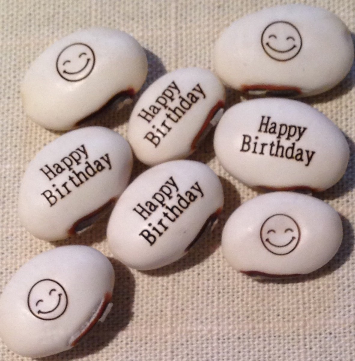 Happy Birthday Magic Message Beans can  later be sprouted in your garden!