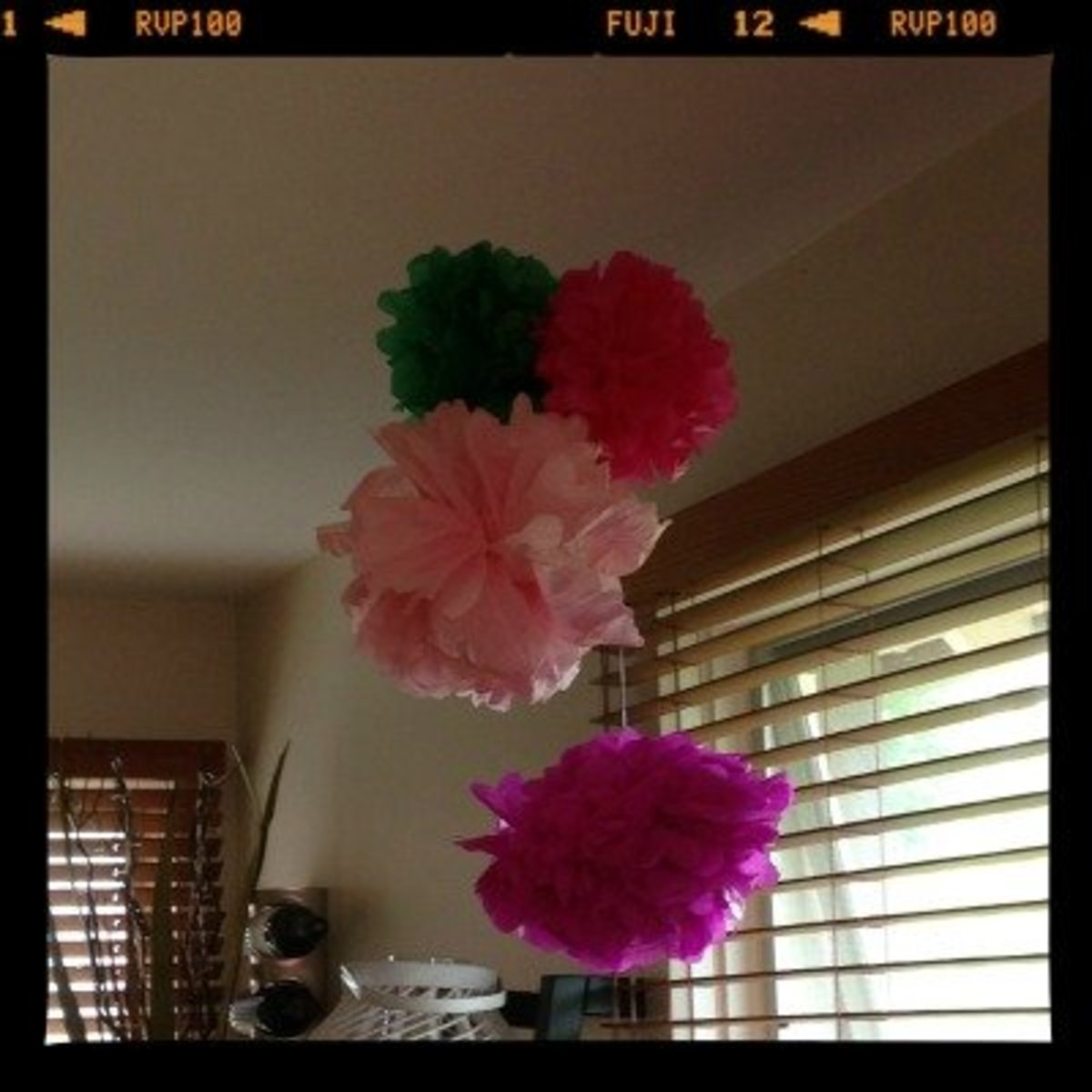 Tissue Paper Flowers are easy to make decorations that are long lasting and reusable!