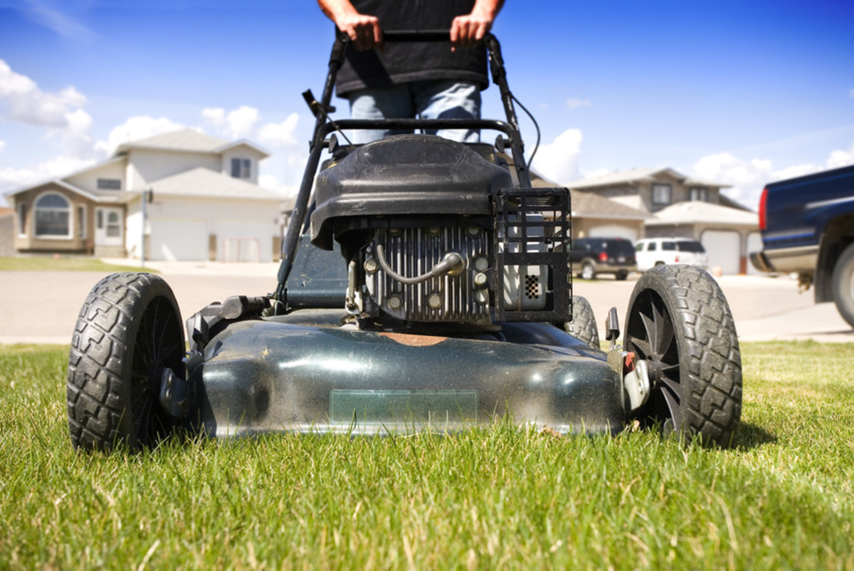 Assisting with landscaping, lawn mowing, trimming, and other outside projects can be a huge help.