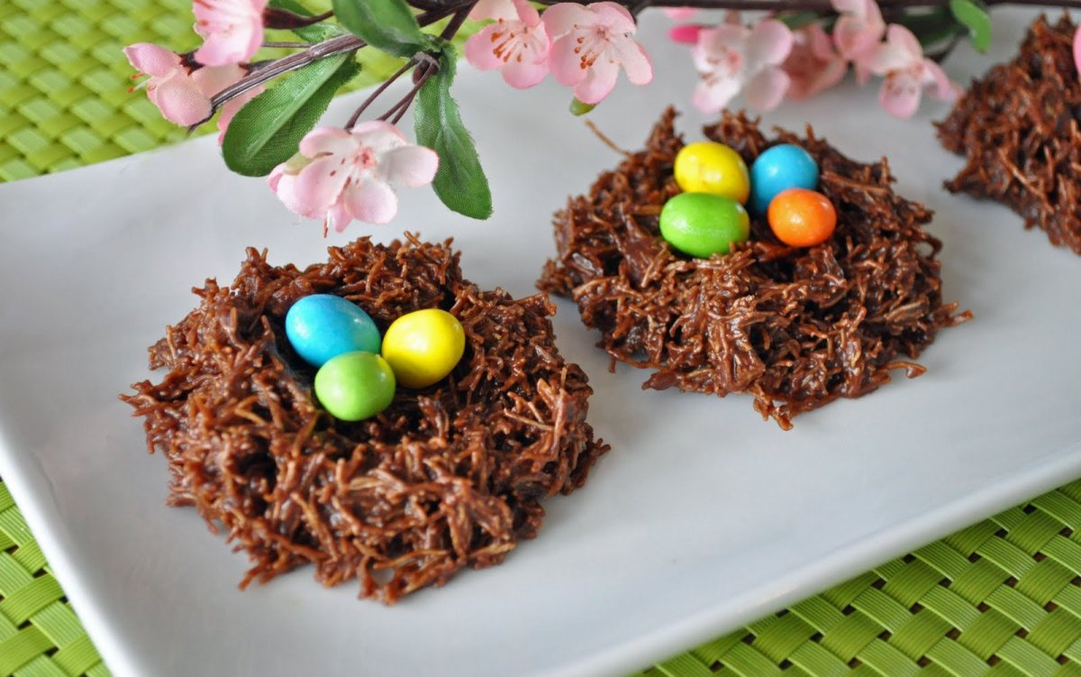 Easter Eggs in Chocolate Nests