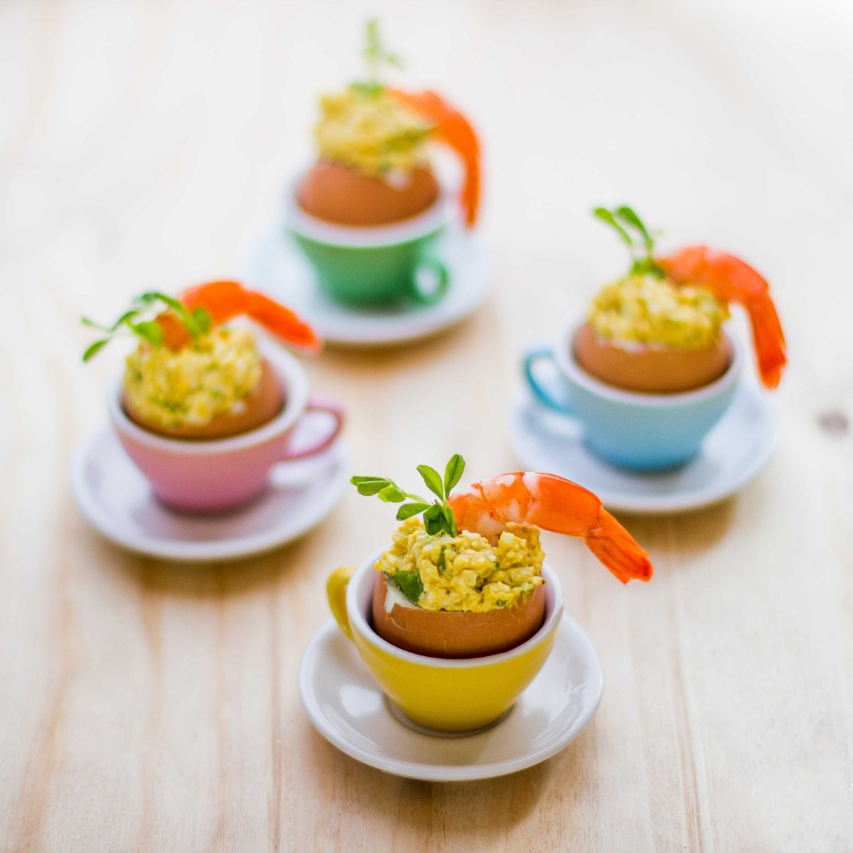 Egg and Prawn Cocktails for Easter Parties