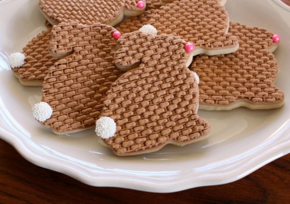 Burlap Easter Bunny Cookies