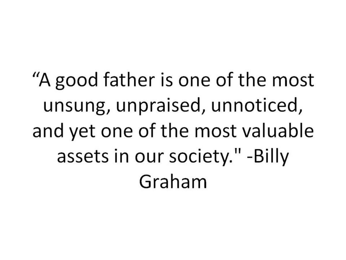 Billy Graham Quote for Father's Day
