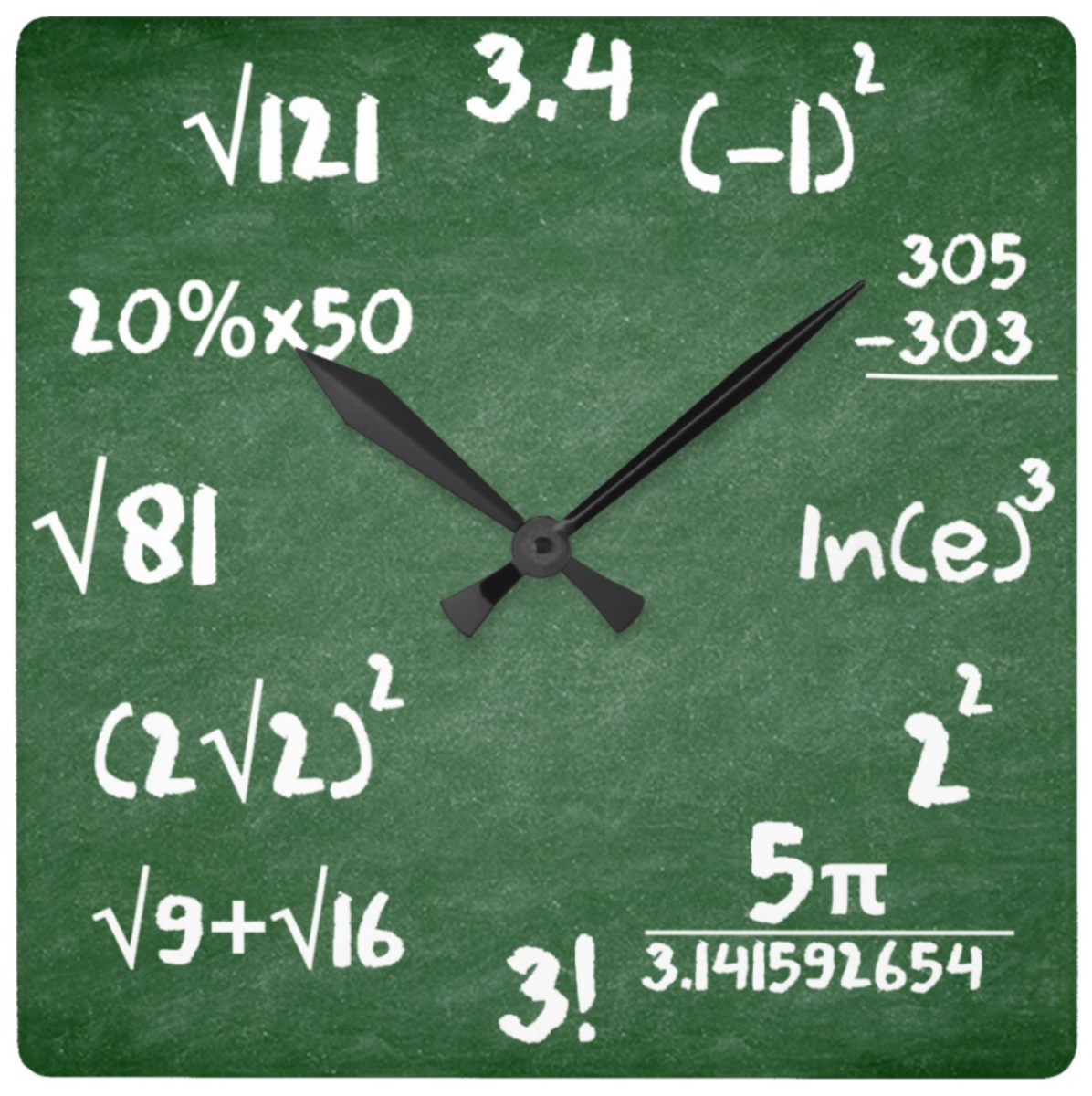 This unique math clock is perfect for math-obsessed engineers.