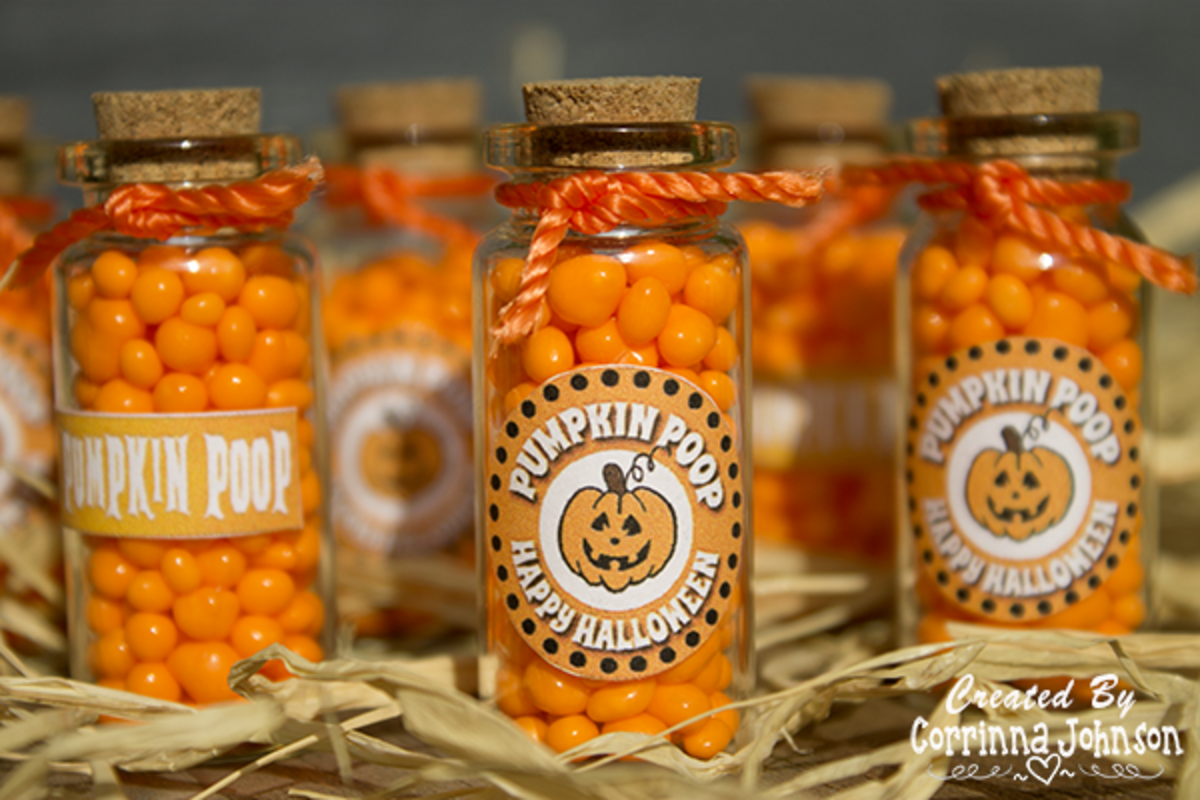 Pumpkin Poop Treats Made With Nerds Candy