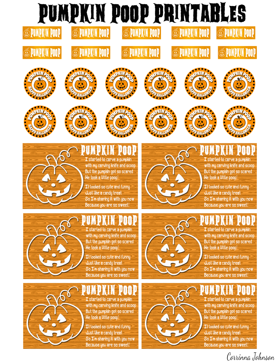 Pumpkin Poop Printable Poem And Labels