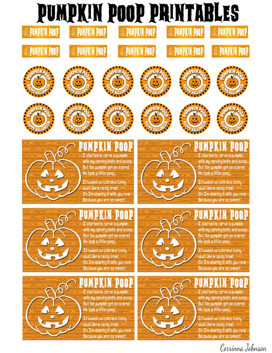 Pumpkin Poop Printable Poem And Labels
