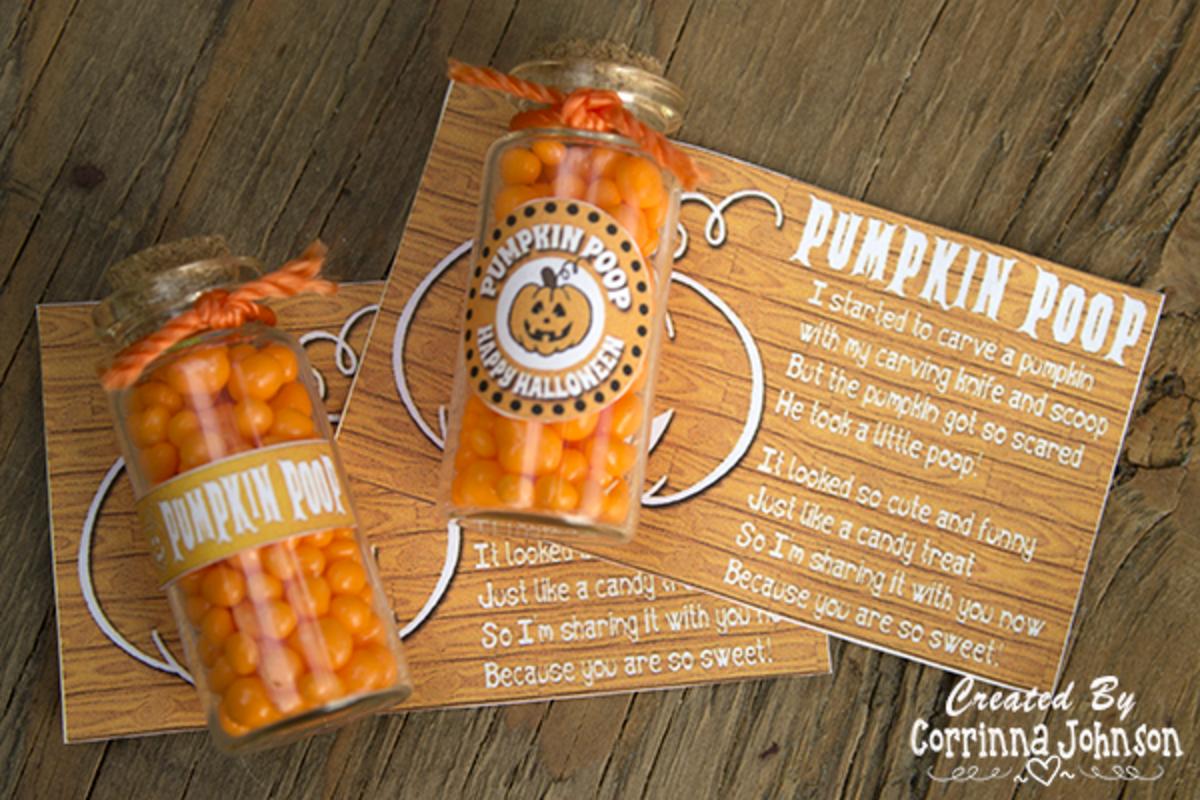 Pumpkin Poop Party Favors And Poem