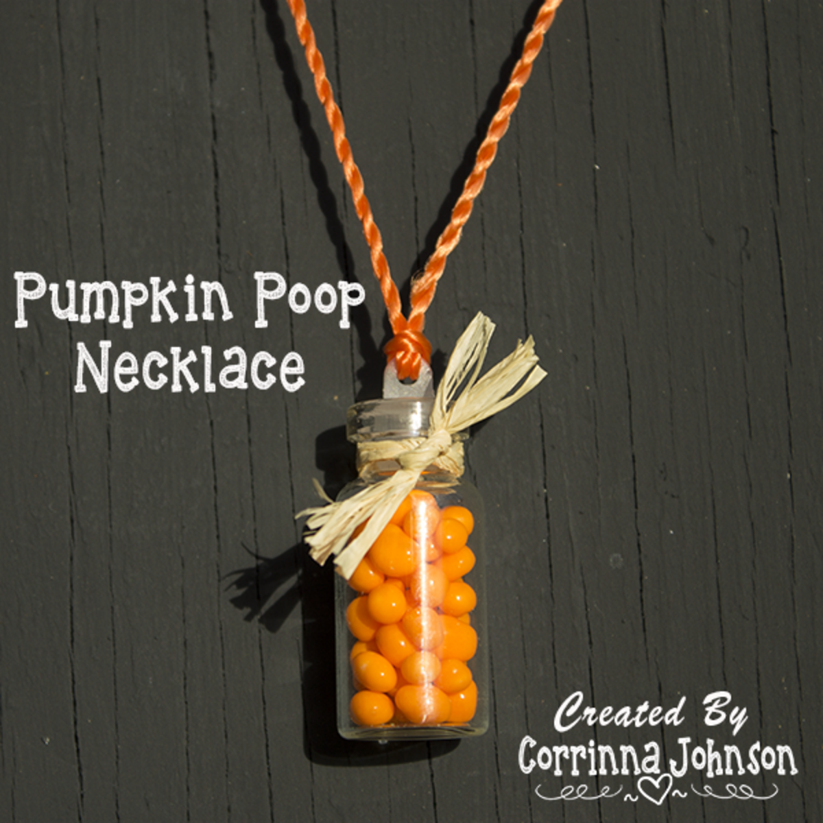 Pumpkin Poop Candy Necklace