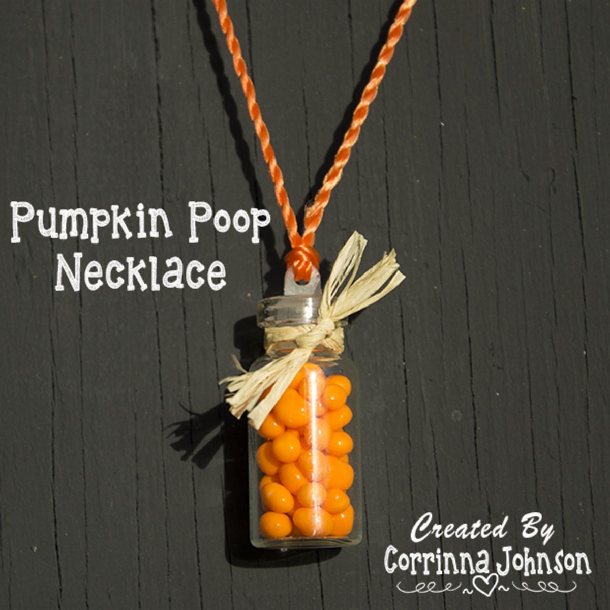 Pumpkin Poop Candy Necklace