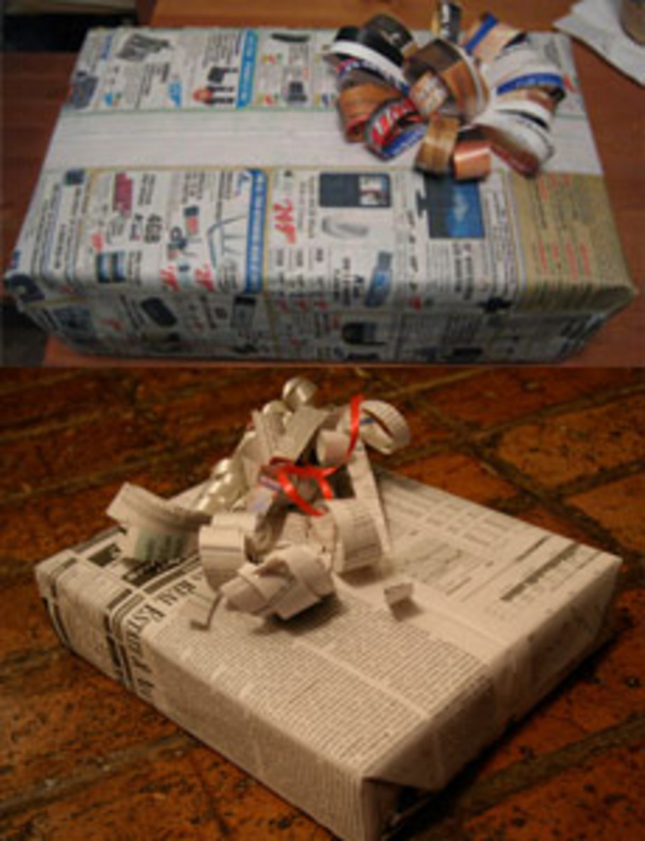 If everything else fails, newspaper will still come to save the day! Newspaper may not always be the prettiest gift wrap idea; but it is a cost effective and green way to get the job done!