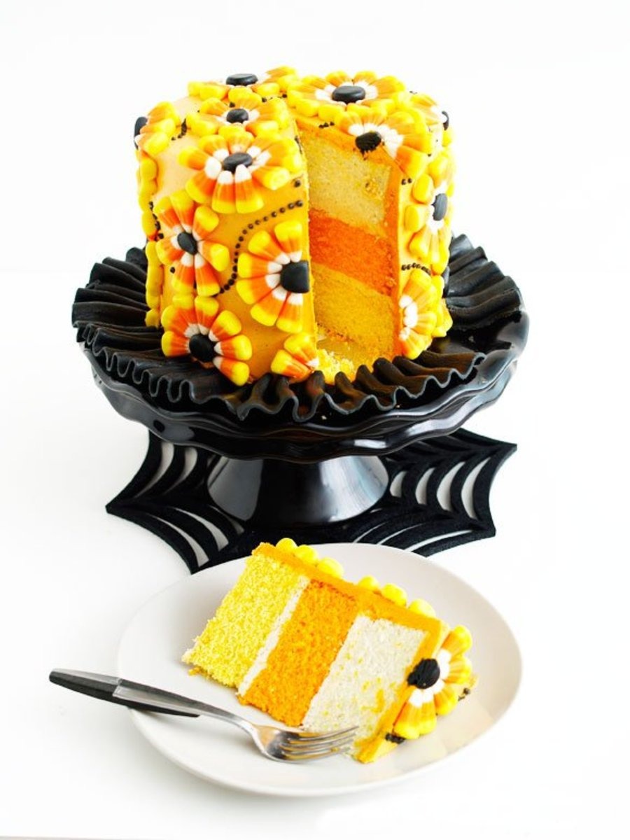 Festive candy corn cake that everybody will remember.