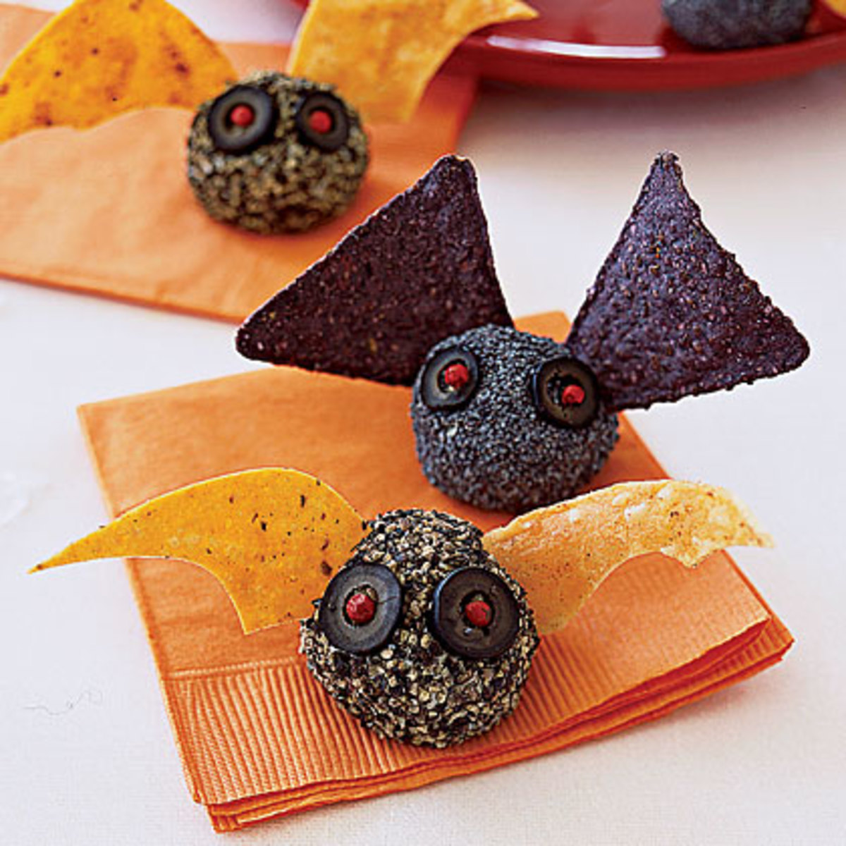 These Bat Bites will fly off any Halloween party tray!