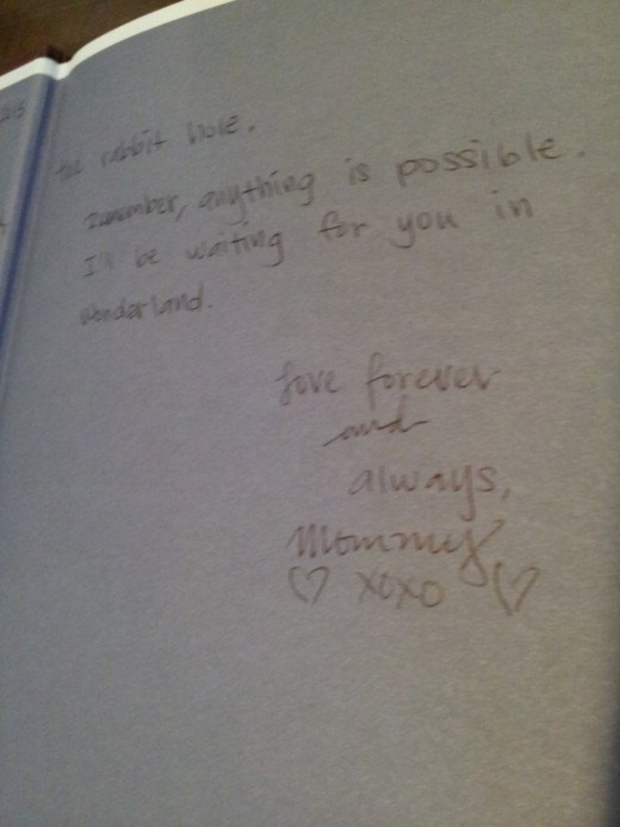 This is the second page of the book inscription for my daughter.