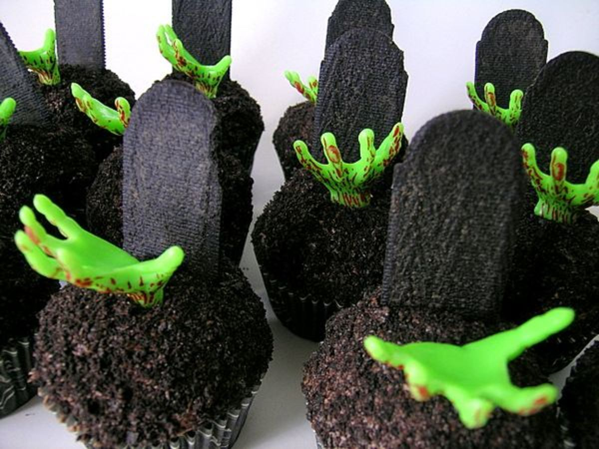Zombie Cupcakes for a Halloween party!