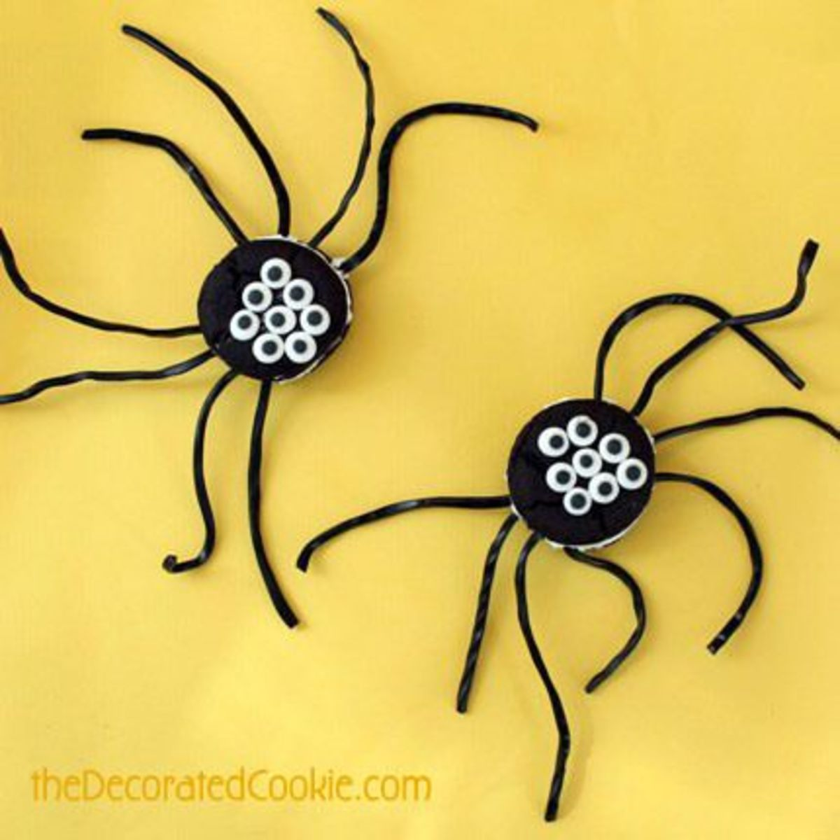 Oreo Cakester Spiders from The Decorated Cookie blog's guest post on CraftGossip.com