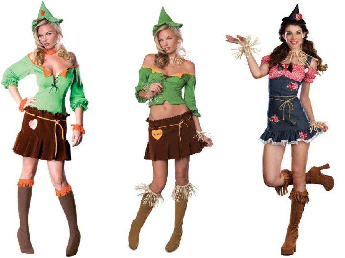 Women Scarecrow Costumes from the Wizard Of Oz