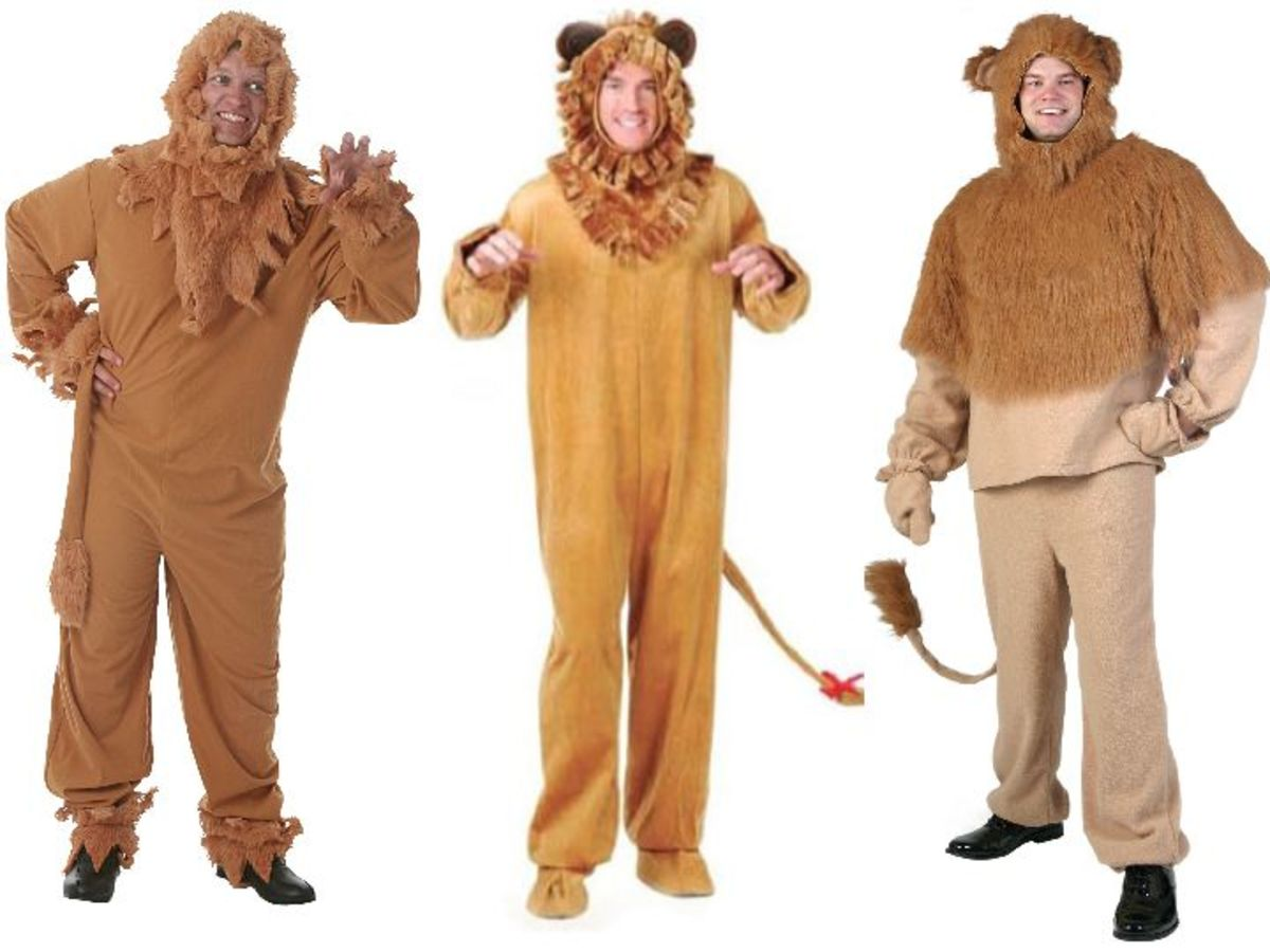 Men Cowardly Lion Costumes from the Wizard Of Oz