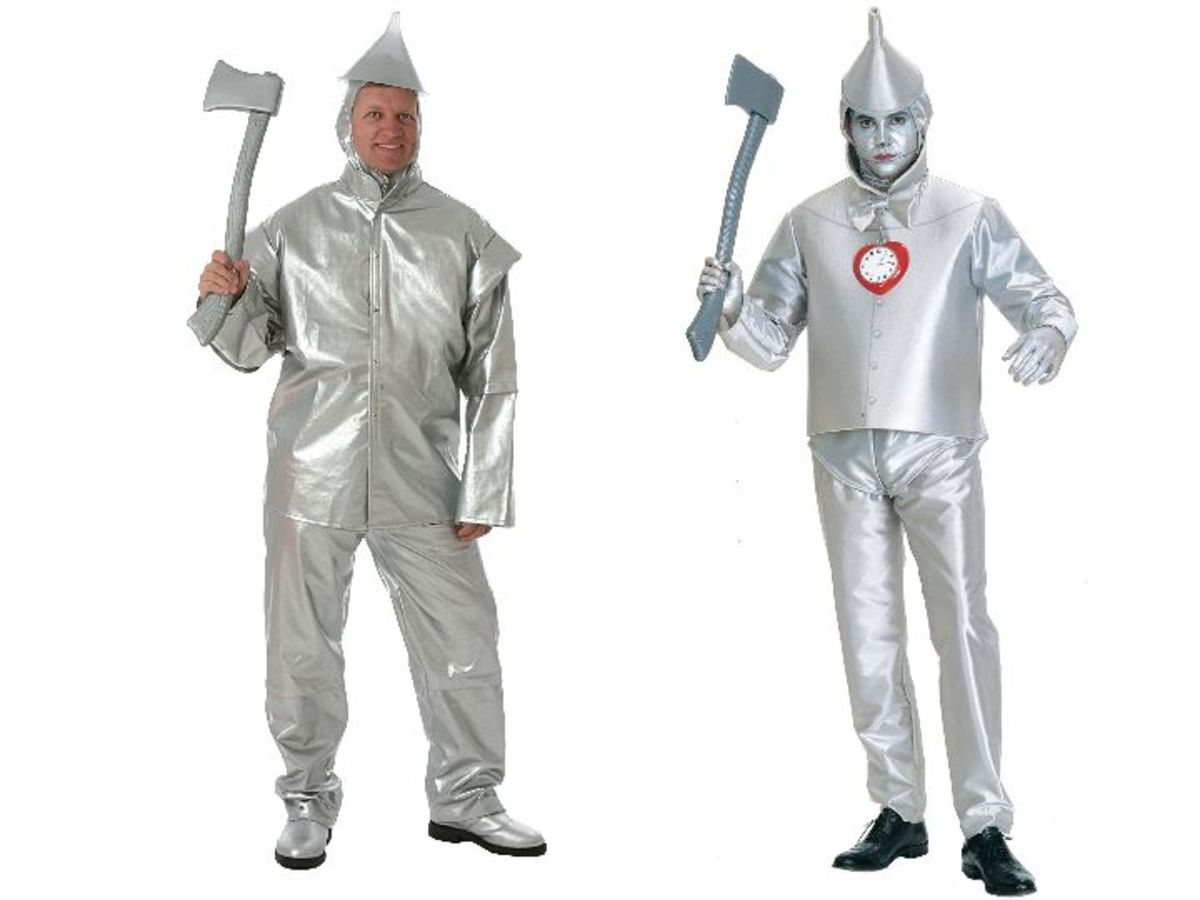 Men Tin Man Costumes from the Wizard Of Oz