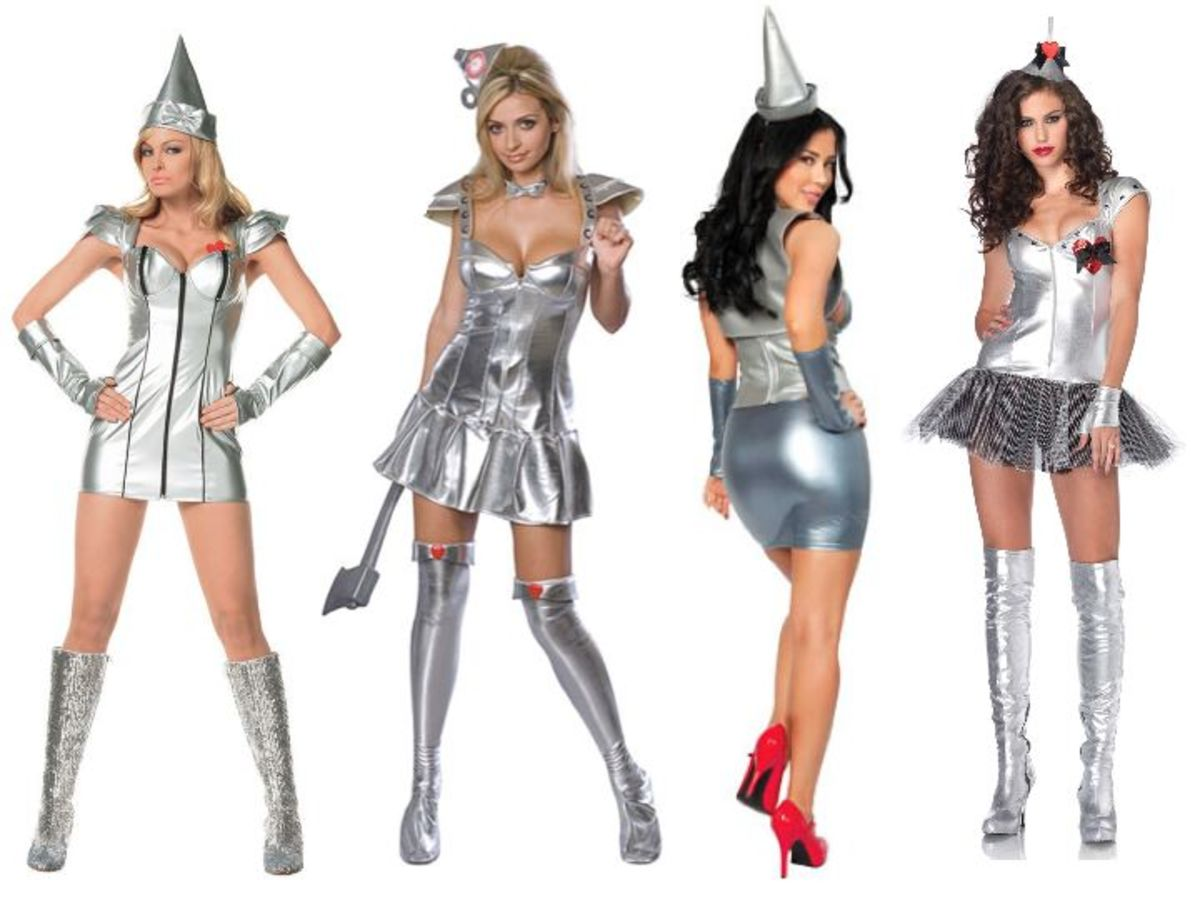 Women Tin Man Costumes from the Wizard Of Oz