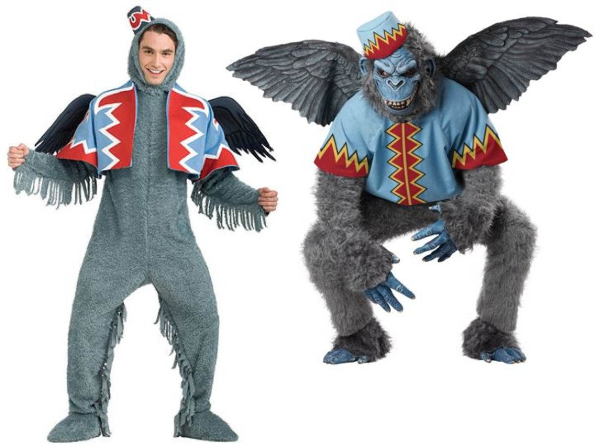Men Flying Monkey Costumes from the Wizard Of Oz