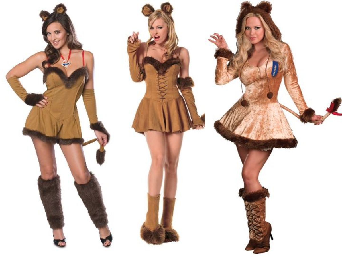 Women Cowardly Lion Costumes from the Wizard Of Oz