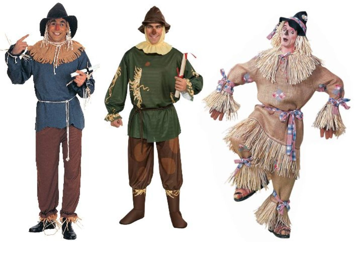 Men Scarecrow Costumes from the Wizard Of Oz