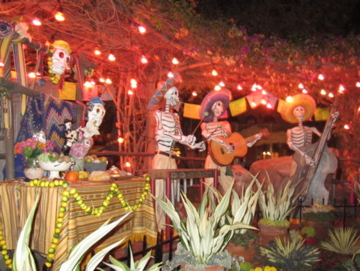 A display for Dia de los Muertos.