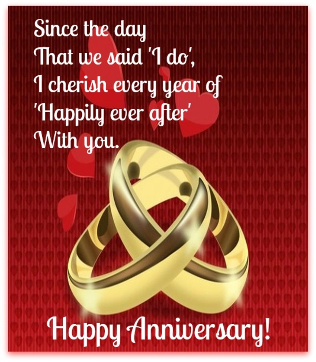 Happily Ever After Anniversary Greeting Card