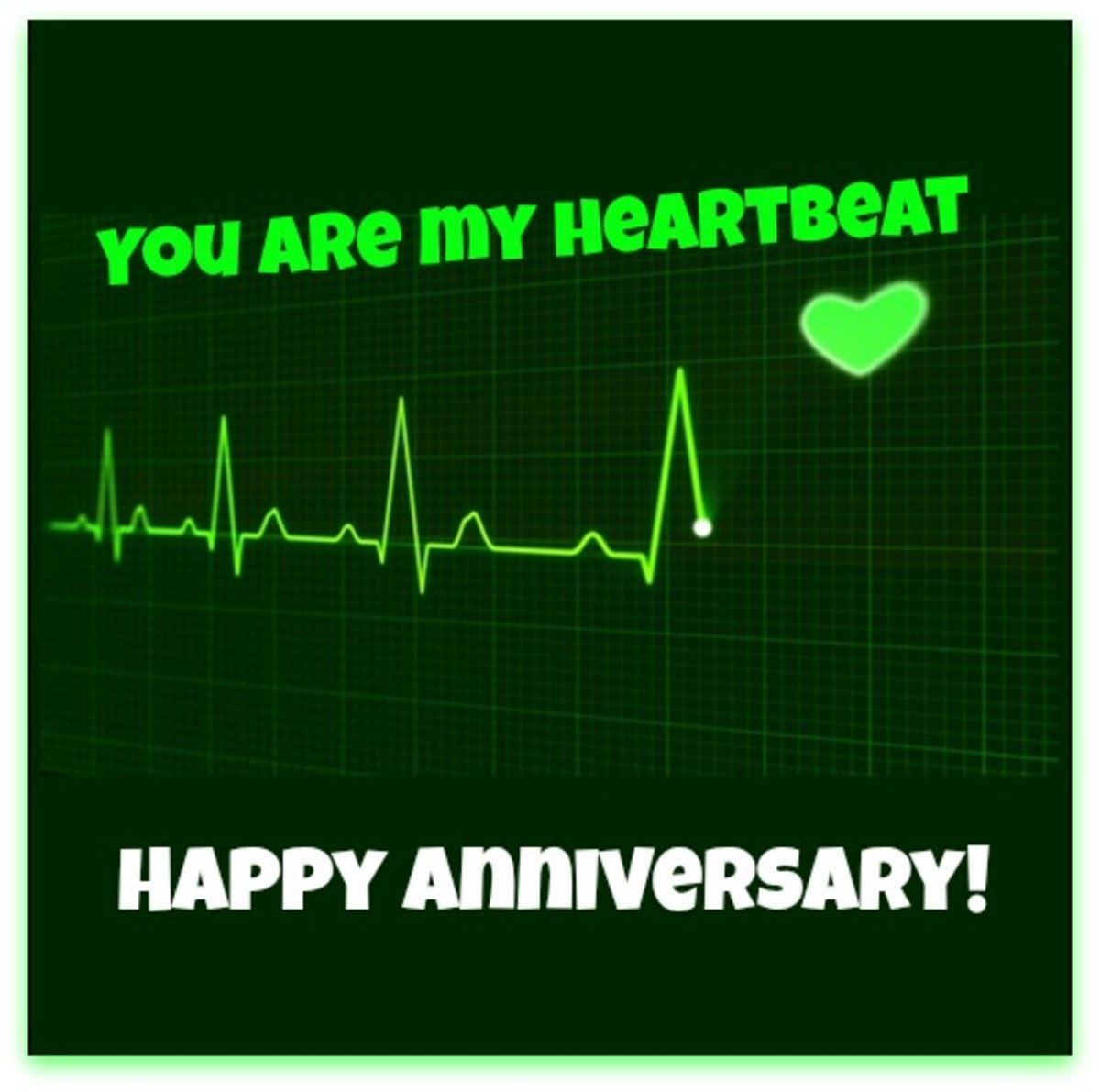 Heartbeat Anniversary Wish