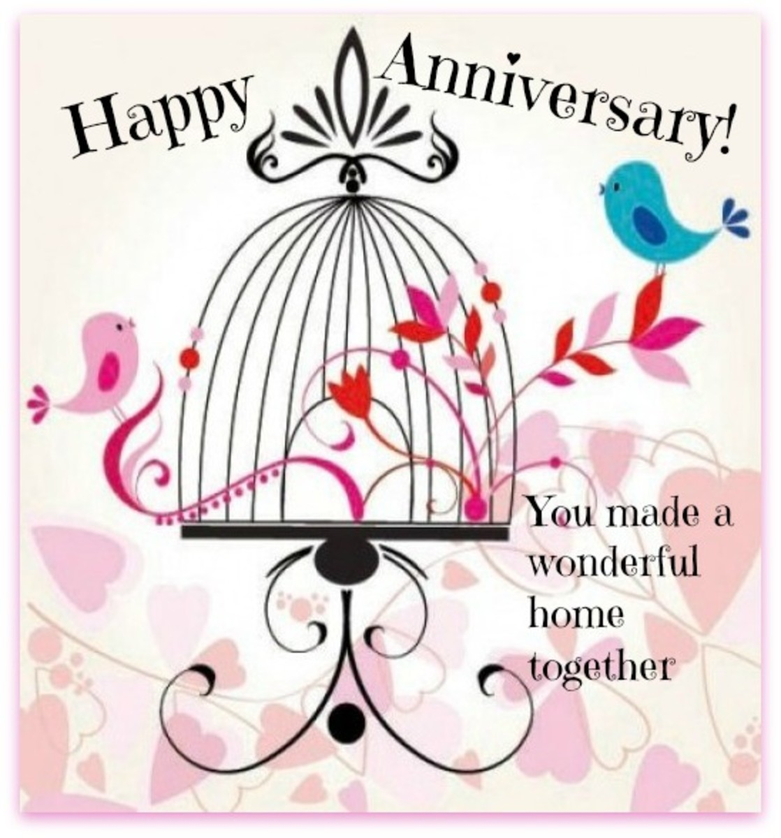 Happy Anniversary to Couple with Happy Home
