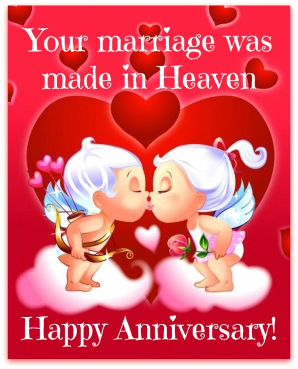 Anniversary Message with Cupids