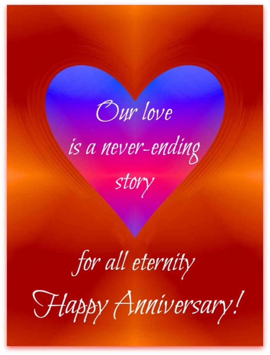 Eternal Love Anniversary Message