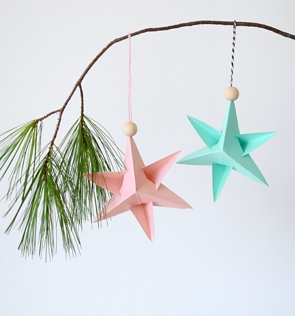 These holiday star ornaments are a snap to make.