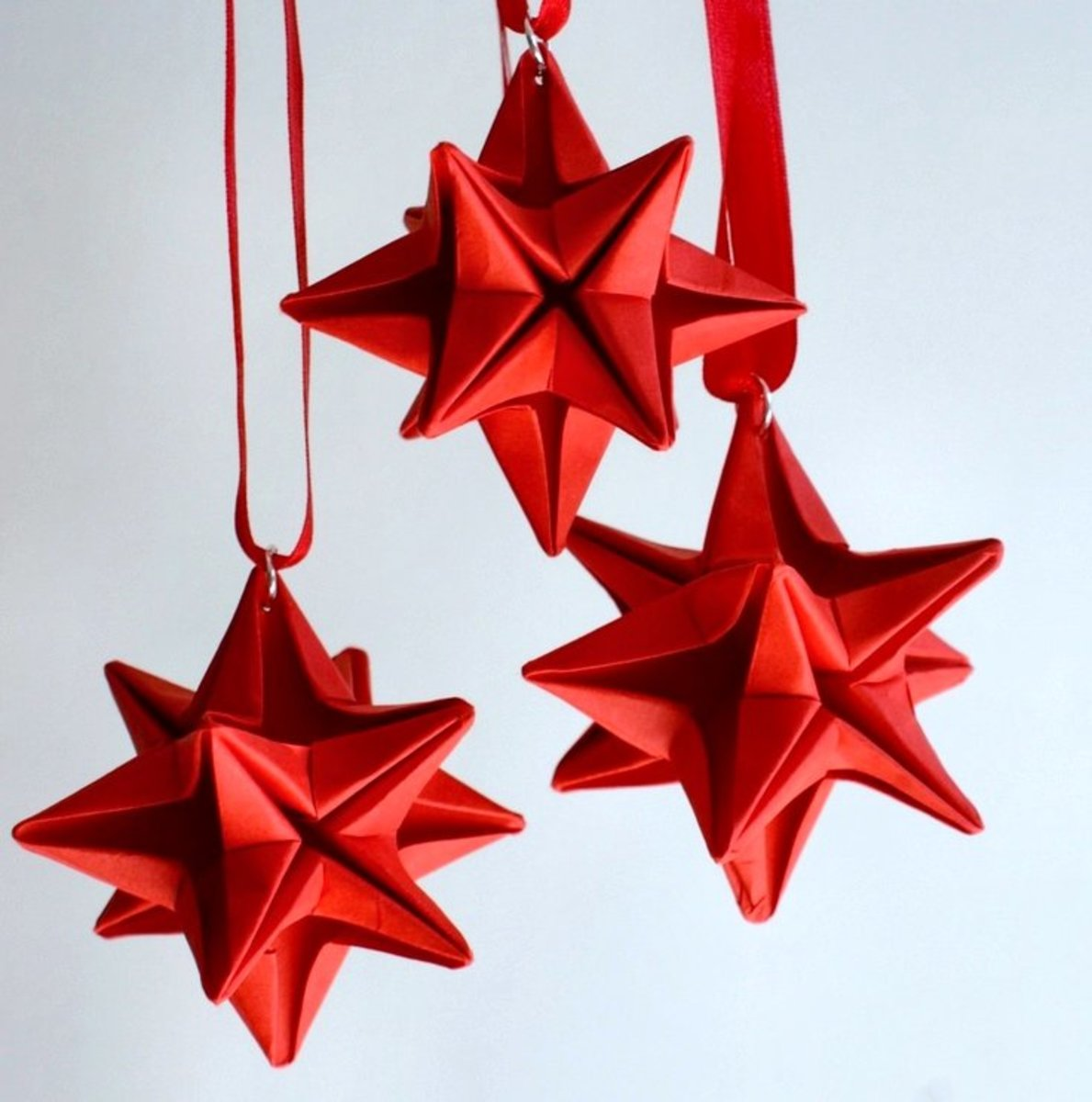 Welcome holiday guests with these trendy DIY origami ornaments.